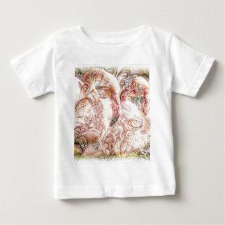 Pink Flamingo Art Baby T-Shirt