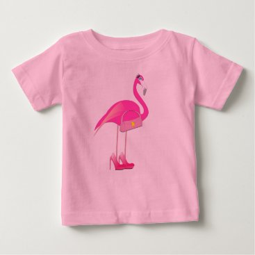 Toddler & Baby themed Pink Flamingo - Baby Fine Jersey T-Shirt Baby T-Shirt