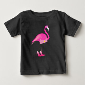 Pink Flamingo - Baby Fine Jersey T-Shirt Baby T-Shirt