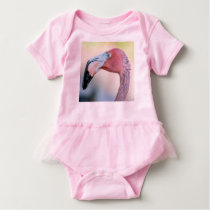 Pink Flamingo Baby Romper with TuTu