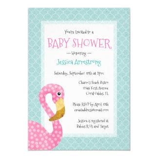 pink flamingo invitations & announcements | zazzle, Baby shower invitations