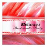 """Pink Flamingo Bachelorette Party Invitation 5.25"""" Square Invitation Card"""