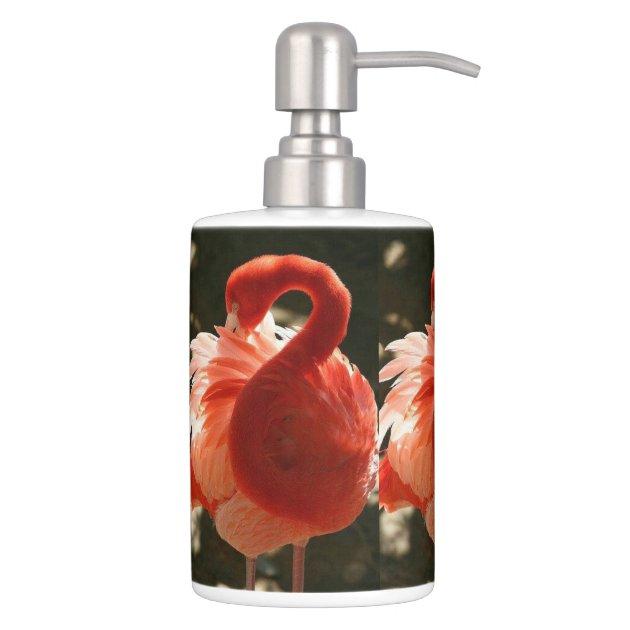 pink flamingo bathroom set | zazzle
