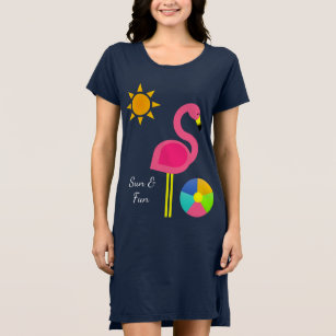 5909a168595c Pink Flamingo Women's Dresses | Zazzle
