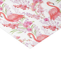 Pink flamingo beach pattern party tissue tissue paper