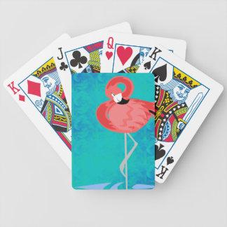 Pink Flamingo Bicycle Playing Cards