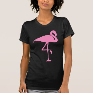 Pink flamingo bird silhouette illustration T-Shirt
