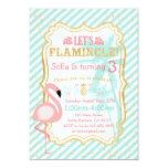 Pink Flamingo Birthday Party Invitation