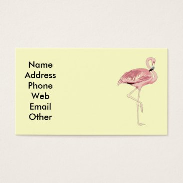 Professional Business Pink Flamingo Business Cards