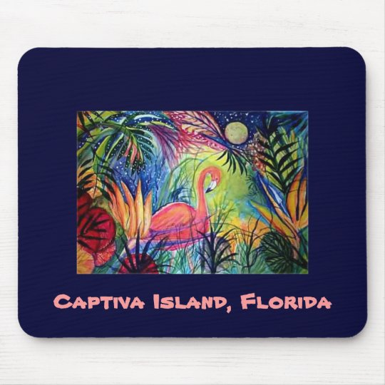 Pink Flamingo - Captiva Island, Florida Mouse Pad