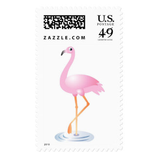 Pink Flamingo Classic Postage Stamps
