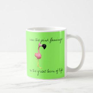Pink Flamingo Coffee Cup Classic White Coffee Mug