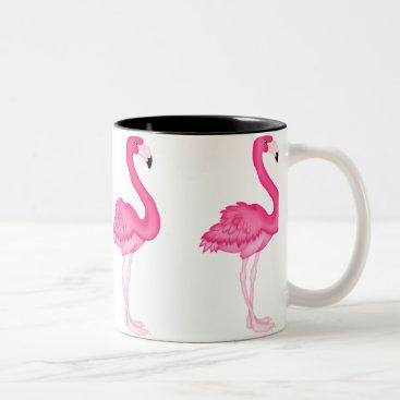 Coffee Themed Pink Flamingo coffee mug