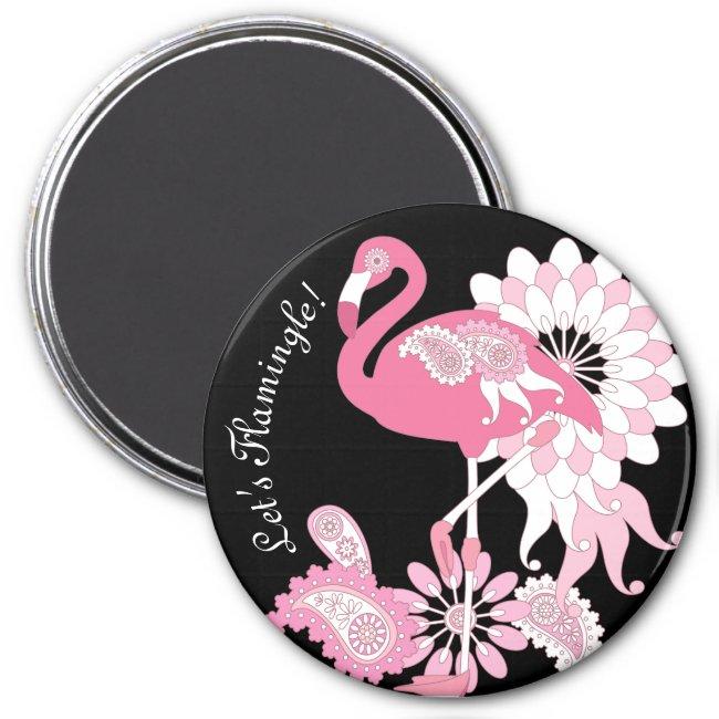 Pink Flamingo Cool Cute Black Custom