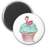 Pink Flamingo Cupcake Retro Dessert! Magnet