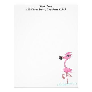 Pink Flamingo Customized letterhead