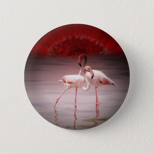 Pink Flamingo Dance Button