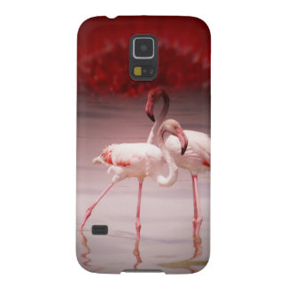 Pink Flamingo Dance Galaxy S5 Cover