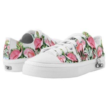 Beach Themed Pink Flamingo Design Sneakers