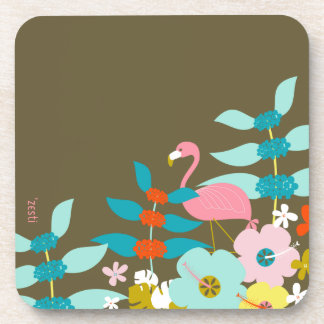 Pink Flamingo Drink Coaster
