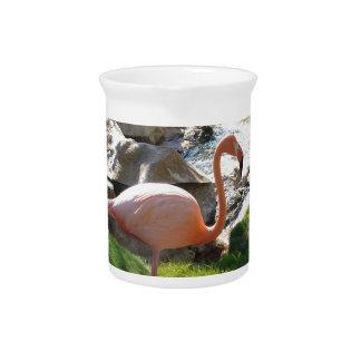 Pink Flamingo Drink Pitcher