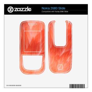 Pink Flamingo Feathers Nokia 2680 Slide Skin