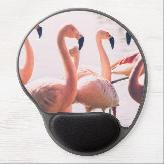 Pink Flamingo Flock, Bird Photography Gel Mouse Pad