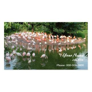 pink flamingo flock business card