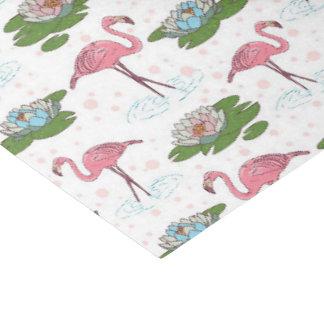 pink flamingo floral pattern tissue paper