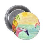 Pink Flamingo Florida Art Pins