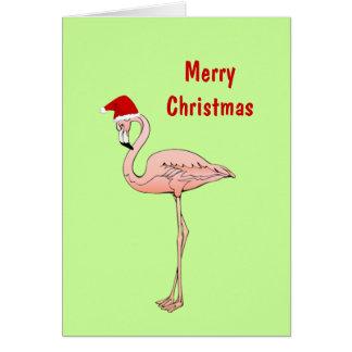 Pink Flamingo Florida or Tropical Custom Wording Cards