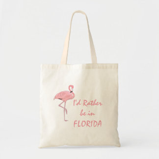 Pink Flamingo Florida Tote Bag
