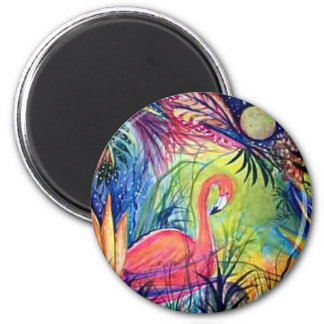 Pink Flamingo Fridge Magnet