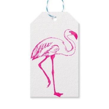 colourarts Pink Flamingo Gift Tags