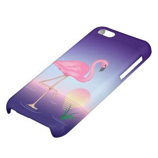 Pink Flamingo Glossy iPhone 5C Case