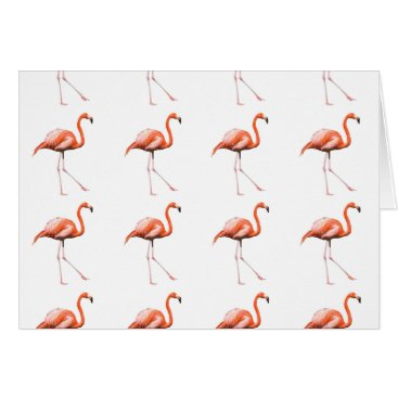 Beach Themed Pink flamingo greeting card