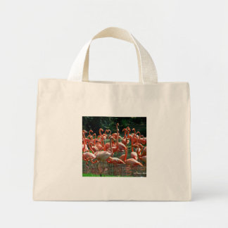 Pink Flamingo group, lots of flamingoes picture! Mini Tote Bag