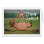 Pink Flamingo Happy Easter Funny Humor Card