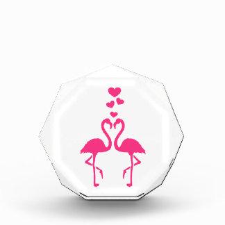 Pink flamingo hearts award