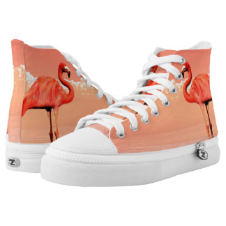 Pink flamingo High-Top sneakers