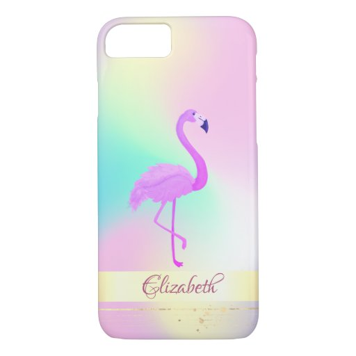 Pink Flamingo Holographic Ombre iPhone 8/7 Case