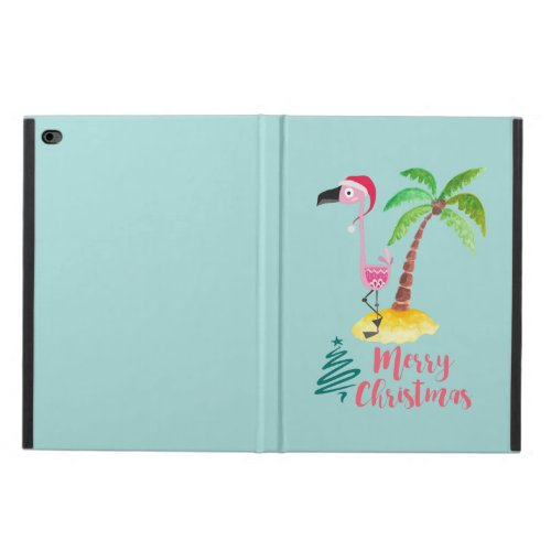 Pink Flamingo In A Santa Hat By A Palm Tree Xmas Powis iPad Air 2 Case