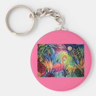 Pink Flamingo Keychain