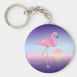 Pink Flamingo Key Chains