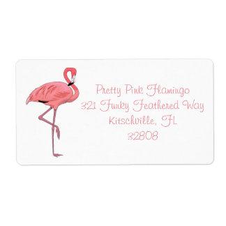 Pink Flamingo Labels