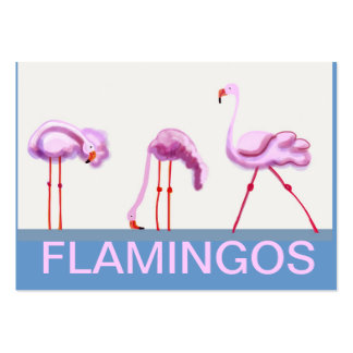 Pink flamingo large business card
