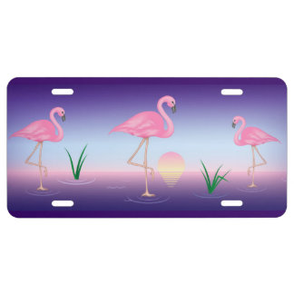 Pink Flamingo License Plate