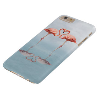 Pink Flamingo Love Barely There iPhone 6 Plus Case