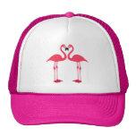 Pink Flamingo Love Birds Trucker Hat