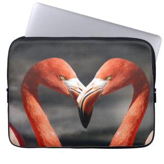 Pink Flamingo Love Laptop Computer Sleeve